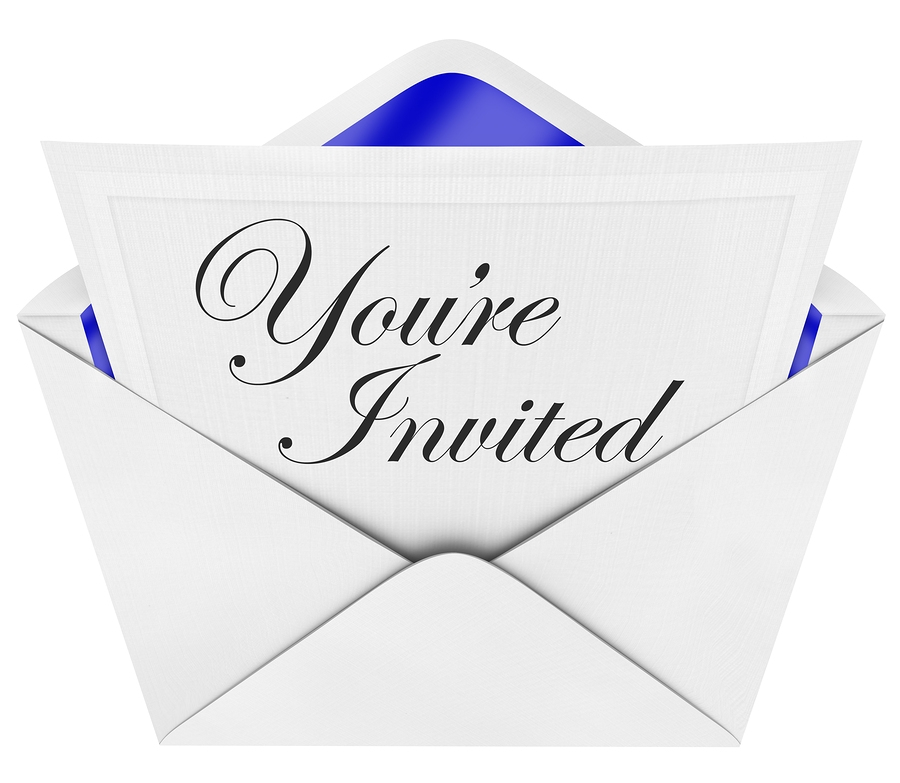 You're Invited - Invitation And Open Envelope