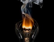 Burning lightbulb