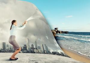 bigstock-Woman-changing-reality-091013